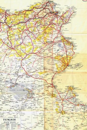 Подробная карта Туниса