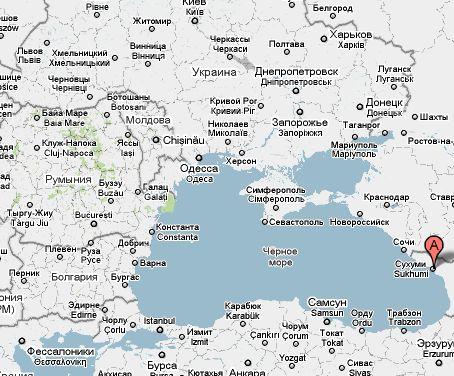 Абхазия на карте