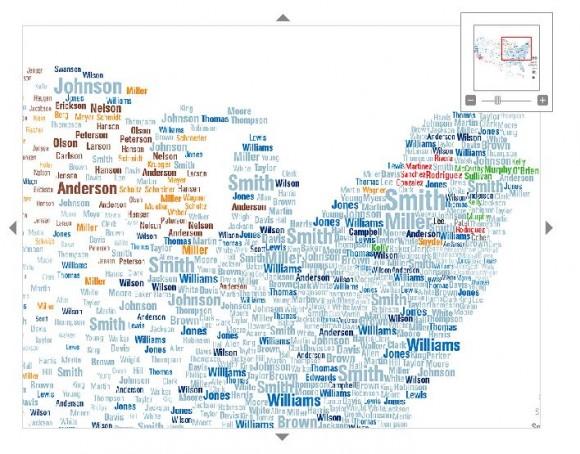Карта фамилий