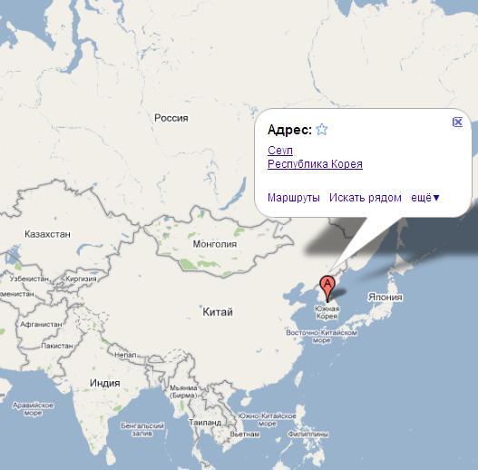 Корея на карте мира