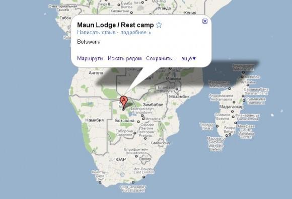 Ботсвана на карте
