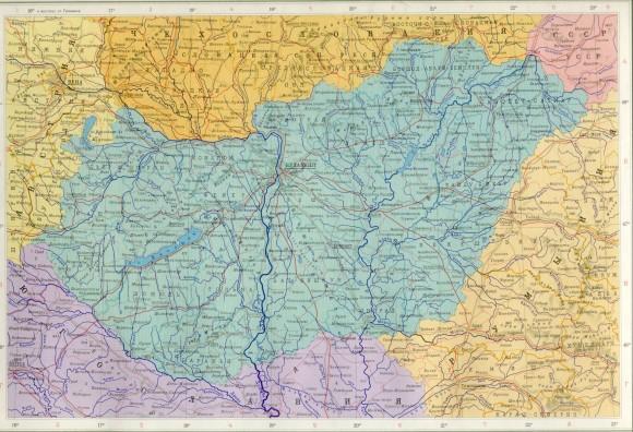 Карта городов Венгрии