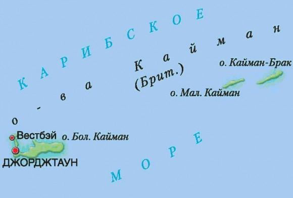 Карта Каймановых островов