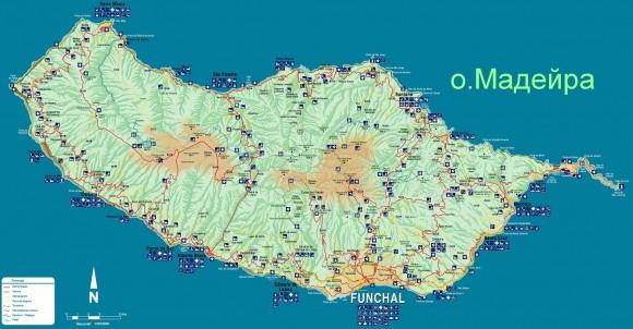 Карта Мадейры