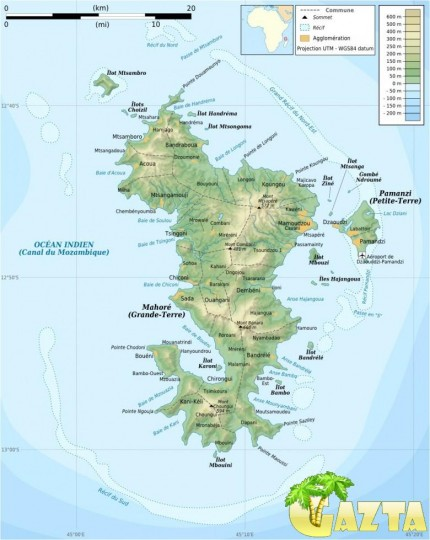 Карта Майотты