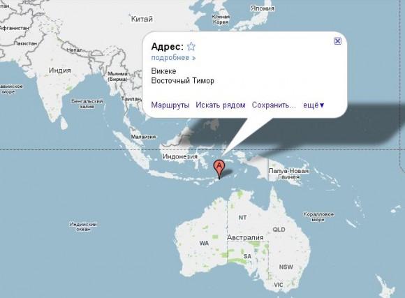 Восточный Тимор на карте