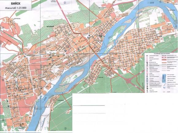 Карта Бийска