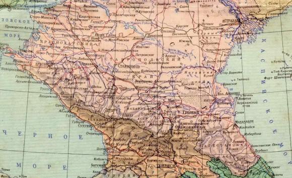 Карта Кавказа России