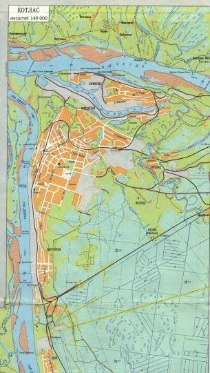 Карта Котласа