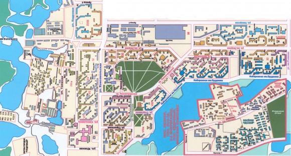 Карта Надыма