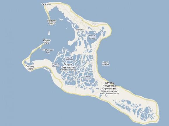 Карта острова Рождества