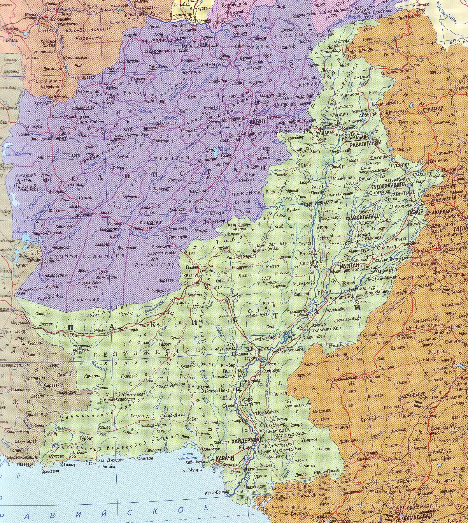 Пакистан на карте | Инфокарт – все карты сети: http://www.infokart.ru/pakistan-na-karte/