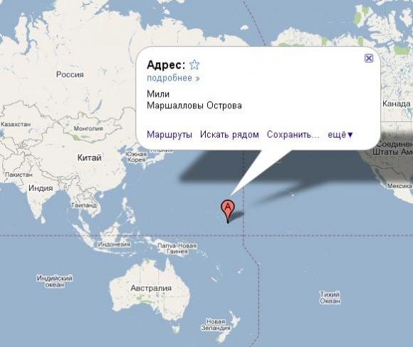 Маршалловы острова на карте