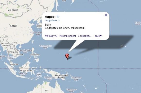 Микронезия на карте