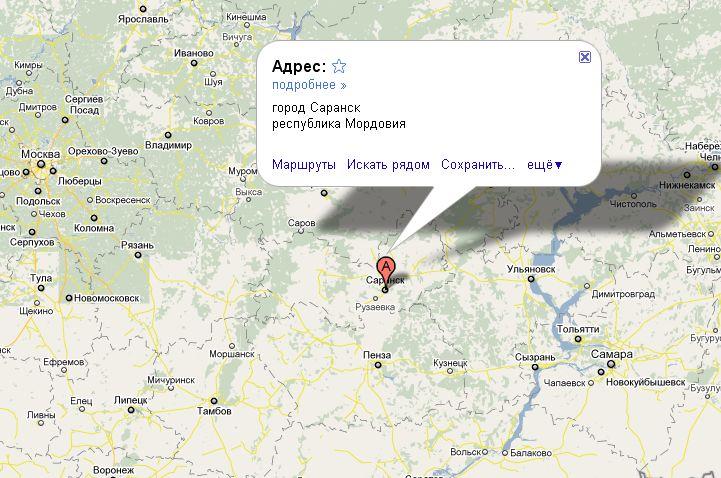 Мордовия на карте России | Инфокарт – все карты сети