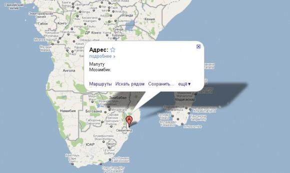 Мозамбик на карте