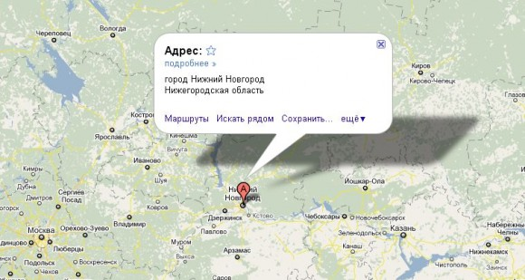 Нижний Новгород на карте России