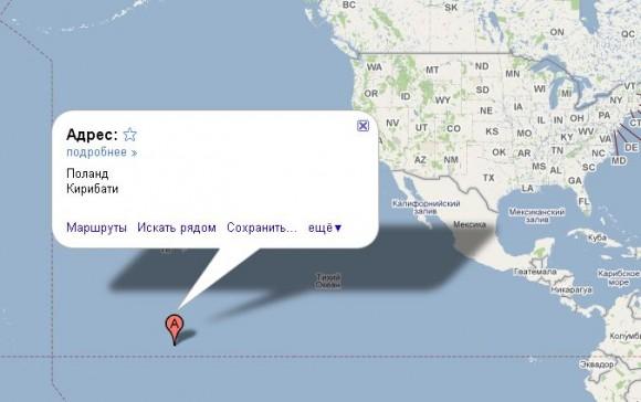 Остров Рождества. Карта