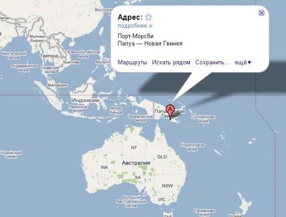Папуа Новая Гвинея на карте