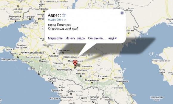 Пятигорск на карте России