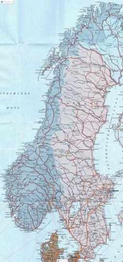 Подробная карта Норвегии