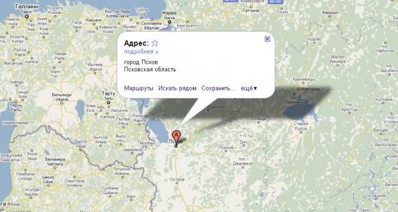 Псков на карте России
