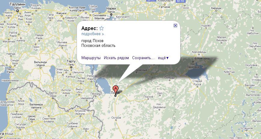 Где находится псков на карте россии