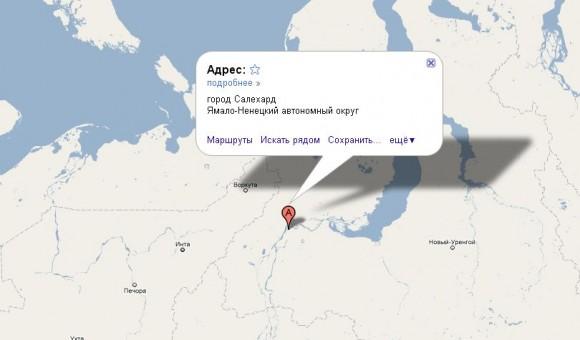 Салехард на карте России