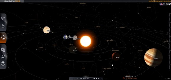 3D интерактивная солнечная система