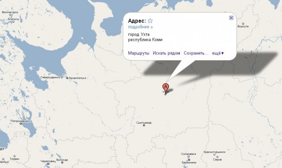 Ухта на карте России