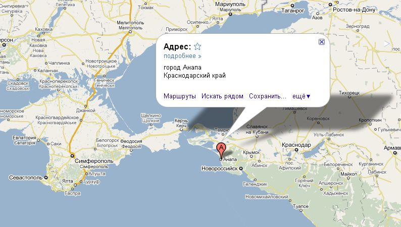 Анапа на карте России | Инфокарт – все карты сети: http://www.infokart.ru/anapa-na-karte-rossii/