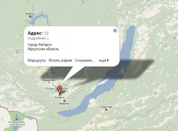 Ангарск на карте России