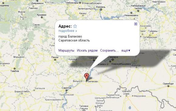 Балаково на карте России