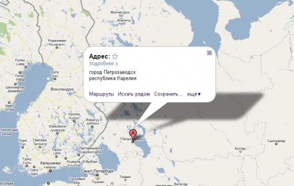 Карелия на карте России