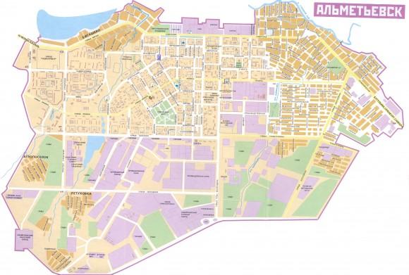 Карта Альметьевска