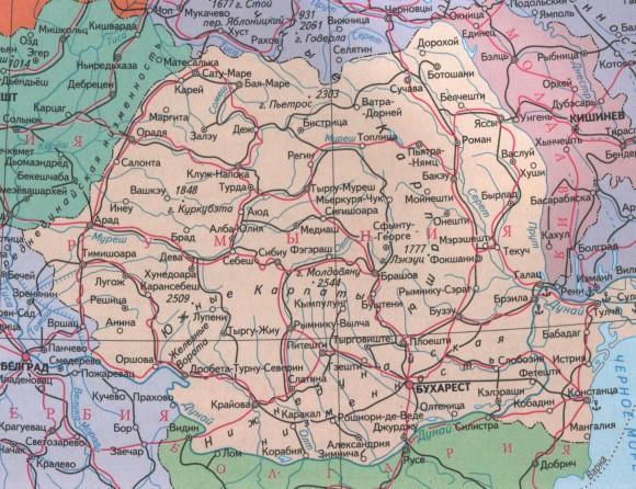 Карта дорог Румынии