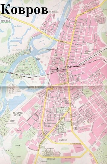 Карта Коврова