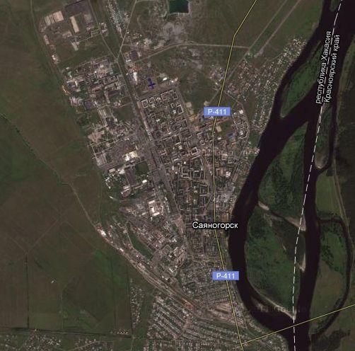 Карта Саяногорска