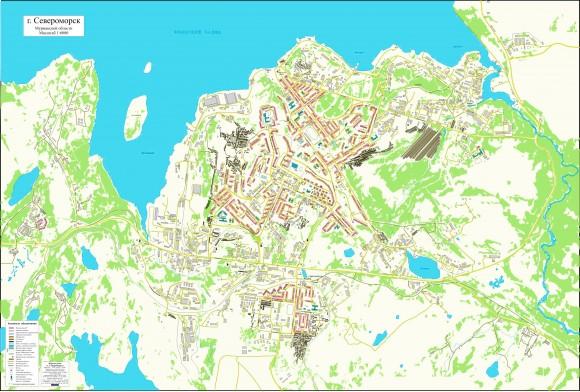 Карта Североморска