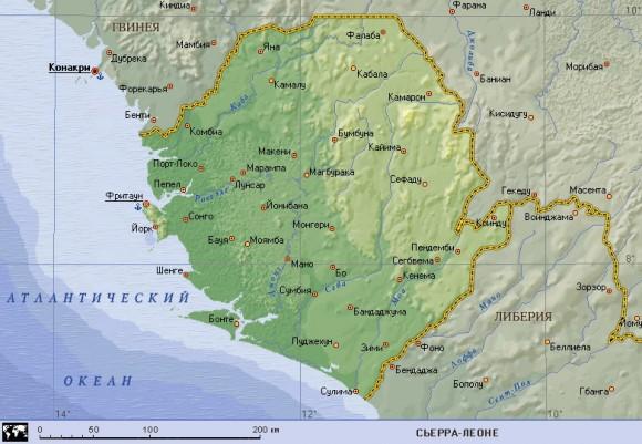 Карта Сьерра-Леоне