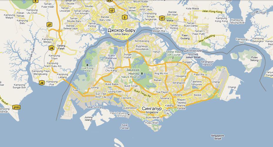 Singapur Na Karte Mira Infokart
