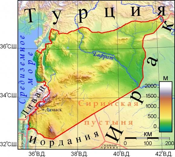 Карта Сирия