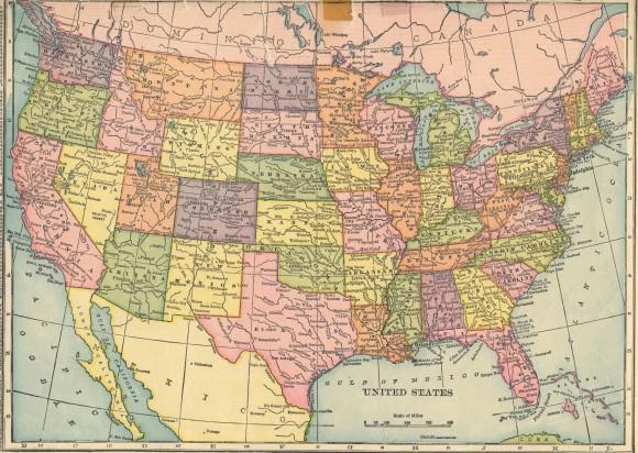 Карта США подробная