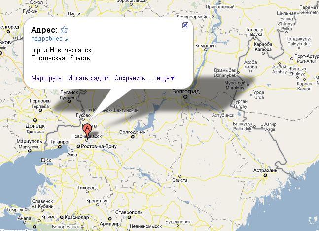 Новочеркасск карта картинка