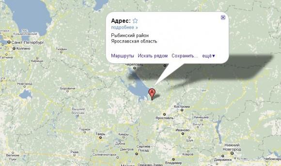 Рыбинск на карте России