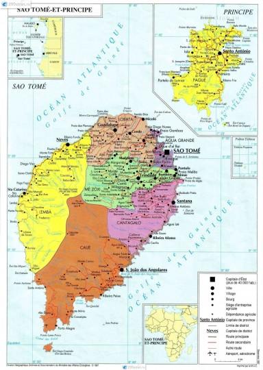 Сан-Томе и Принсипи. Карта