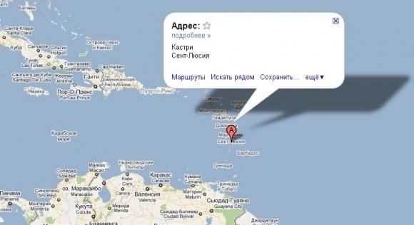 Сент-Люсия на карте