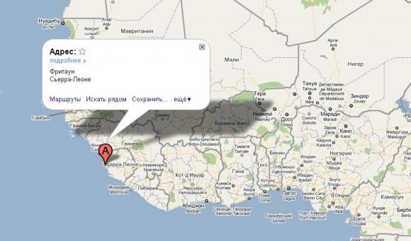 Сьерра Леоне на карте