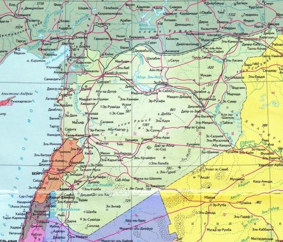 Сирия. Карта