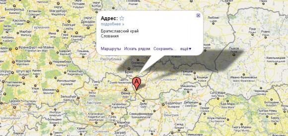 Словакия на карте мира